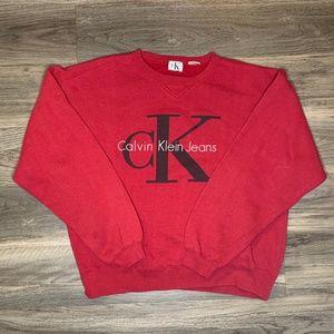 Calvin Klein RED CREW NECK